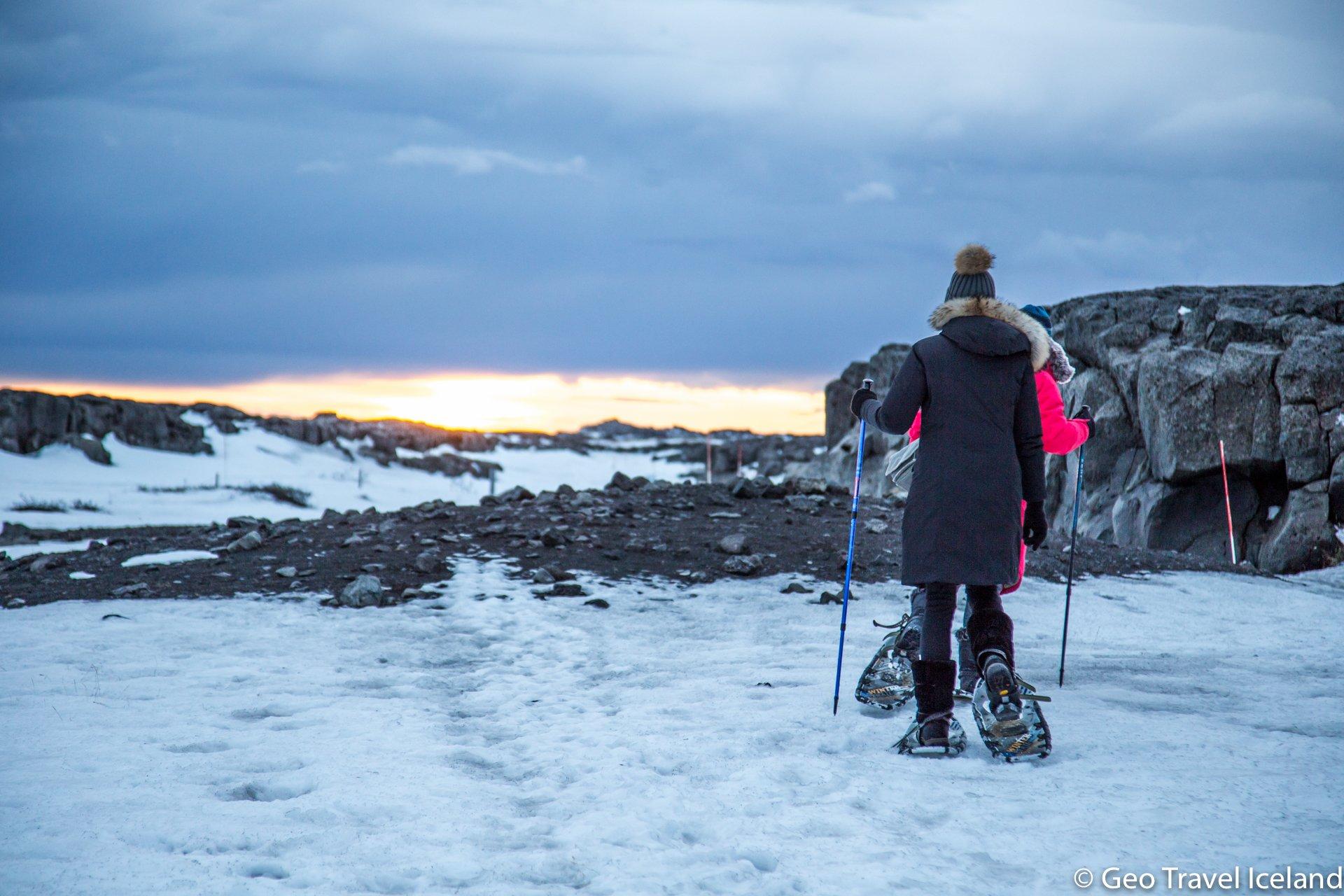 Sneeuwschoenwandelen naar de Dettifoss in IJsland