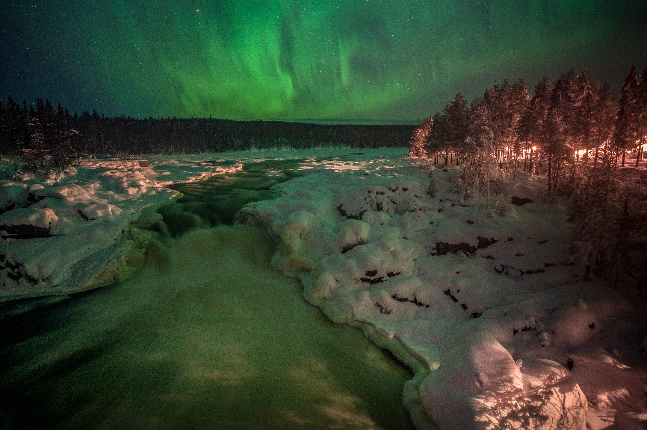 Een van de redenen om naar Lapland te gaan is het zien van het noorderlicht